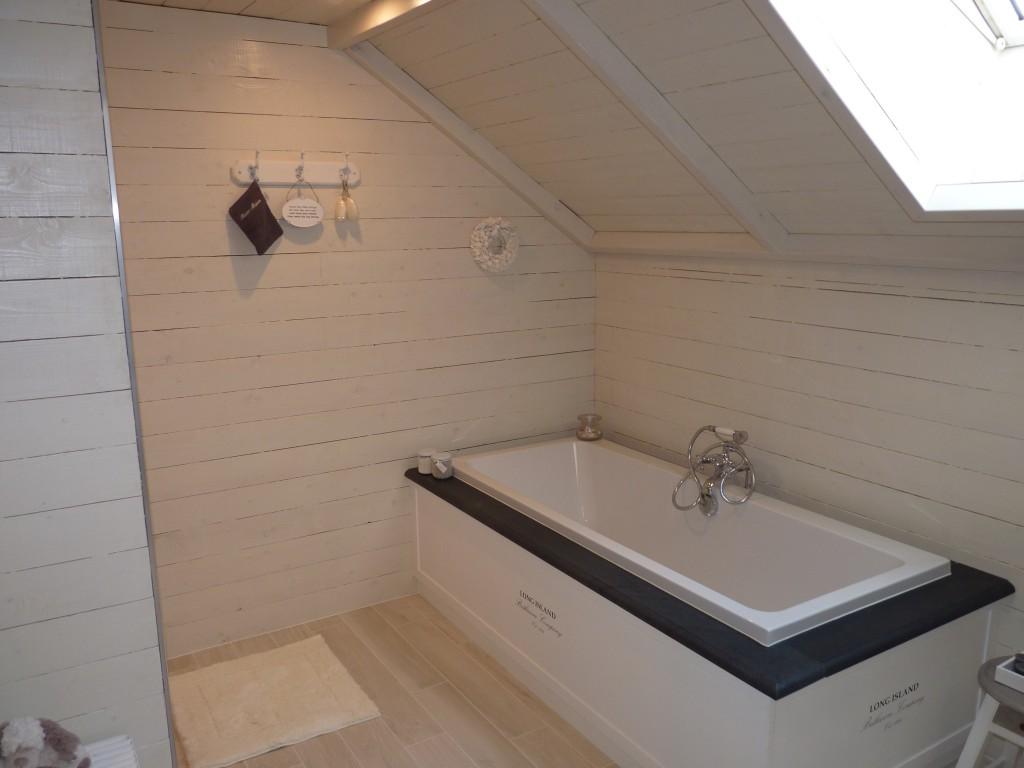 badkamer in steigerhout
